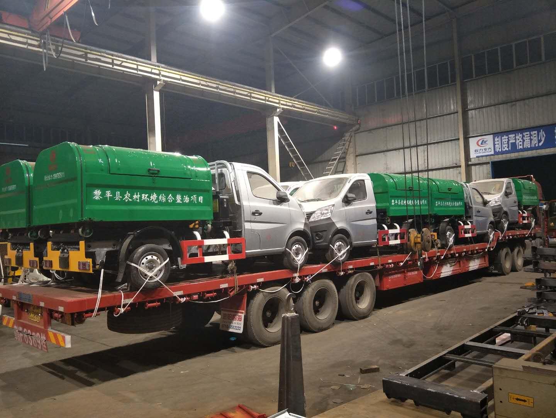贵州省黎平县勾臂垃圾车开始大批量交货