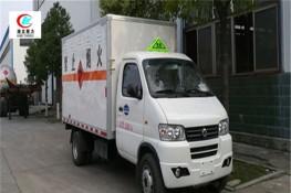 东风俊风3.3米易燃液体厢式运输车【三类 蓝牌】