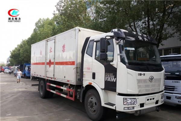 解放6.2米易燃气体厢式运输车【二类】