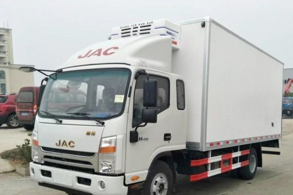 (厢长6.2米)江淮帅铃一排半冷藏车
