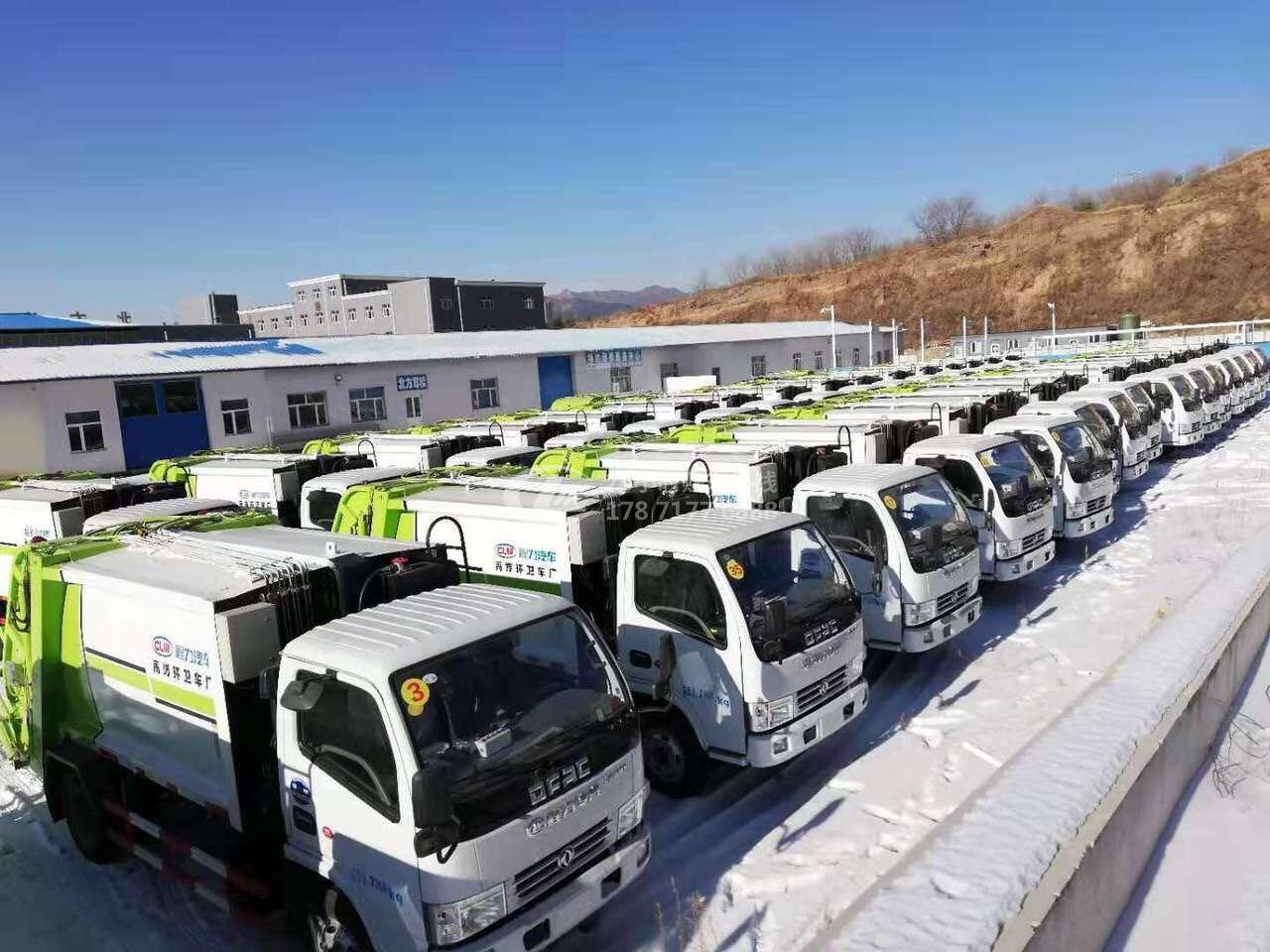 河北承德某单位在我公司订购38台6方垃圾压缩车!
