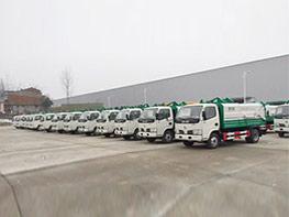 程力集团国五挂桶垃圾车批量供应